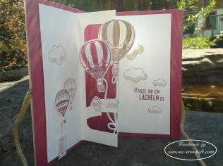Glückwünsche mit Ballons