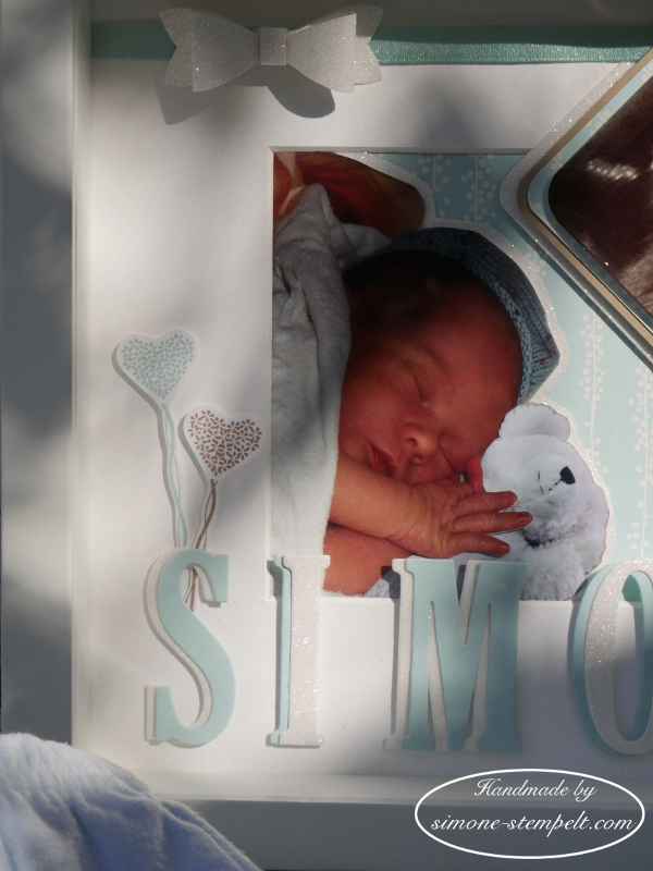 Kreativ durch. shadow box Baby Boy Stampin`Up! P1010166